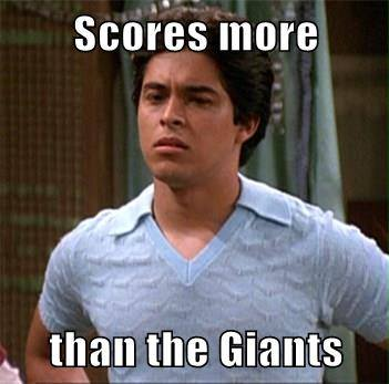 Scoring more than the Giants