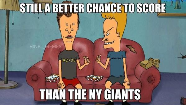 The Giants won't score