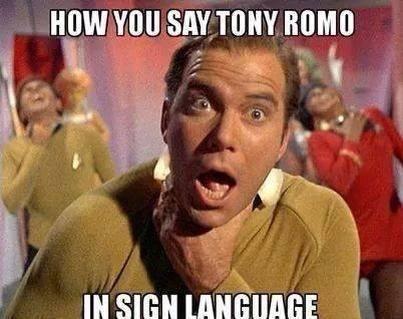 Tony Romo in Sign Language