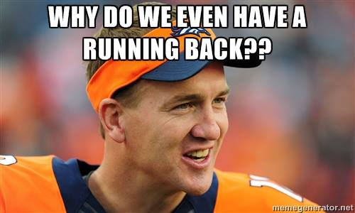 Who needs a running back