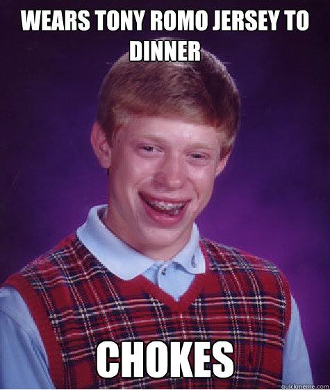 Bad luck Romo