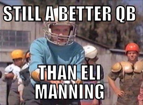 Better than Eli