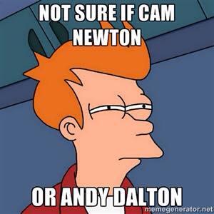 Cam Newton or Andy Dalton