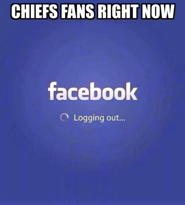 Chiefs fans logging out