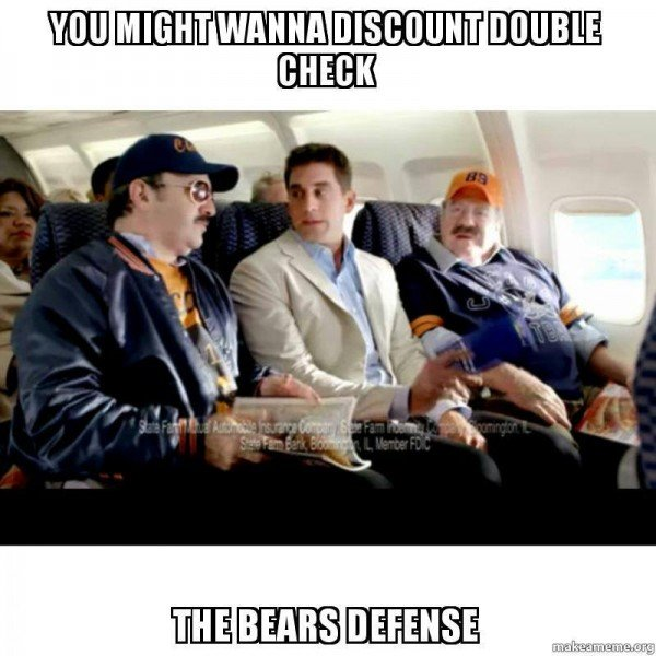 DD the Bears defense