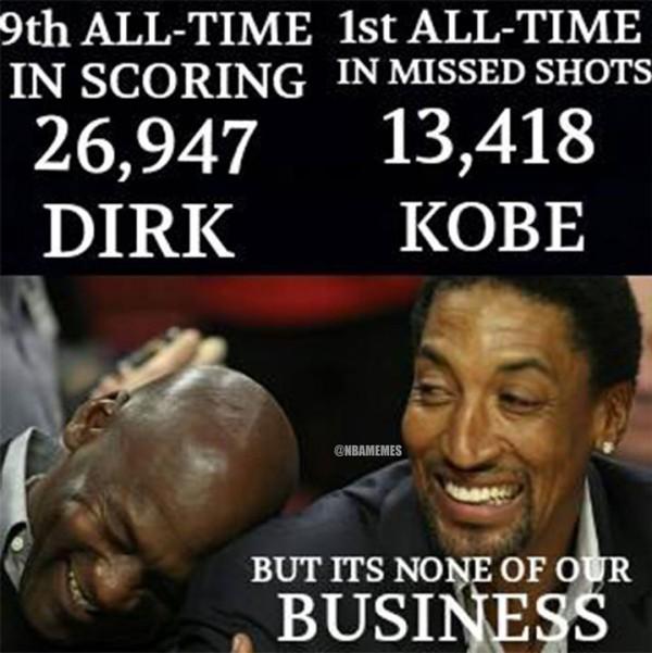 Joking about Kobe