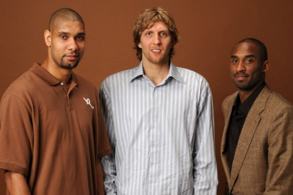 Kobe Bryant, Tim Duncan, Dirk Nowitzki