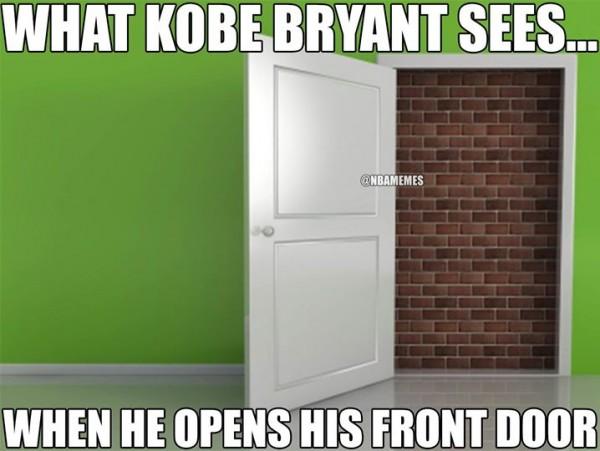 Kobe sees bricks