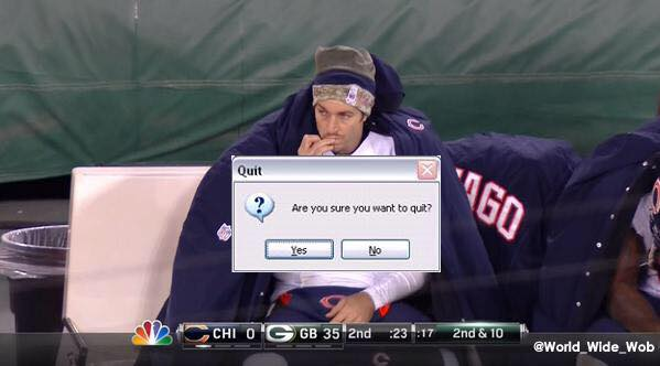 Quit 35 best memes of jay cutler & the chicago bears getting crushed by