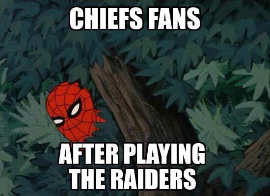 Scared of the Raiders