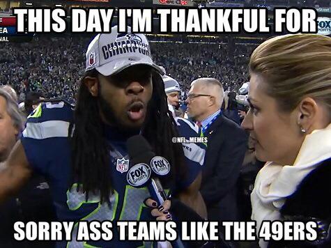 Sherman thankful for something