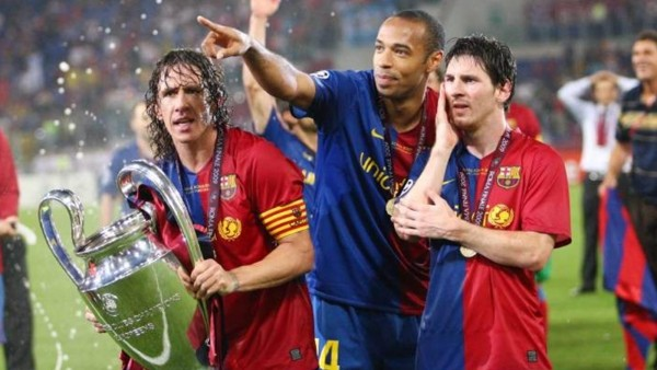 Thierry Henry, Puyol, Messi