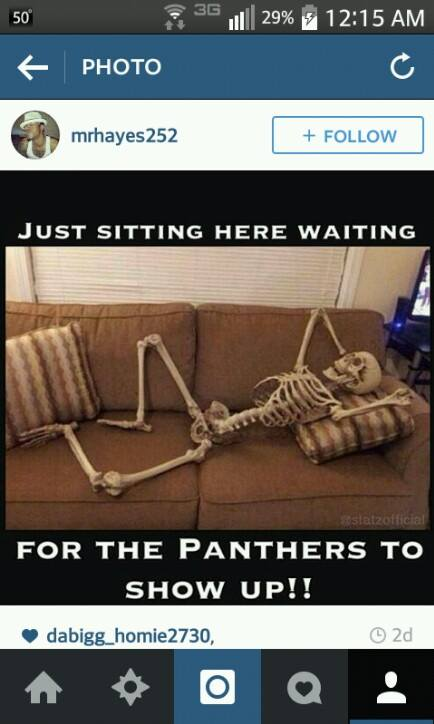 Waiting for the Panthers