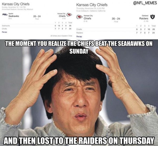35 Best Memes Of The Oakland Raiders Beating The Kansas City Chiefs