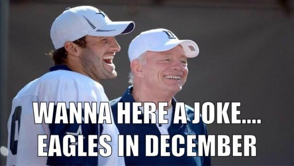 Eagles in December joke