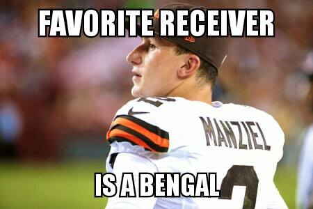 Favorite receiver is a bengal