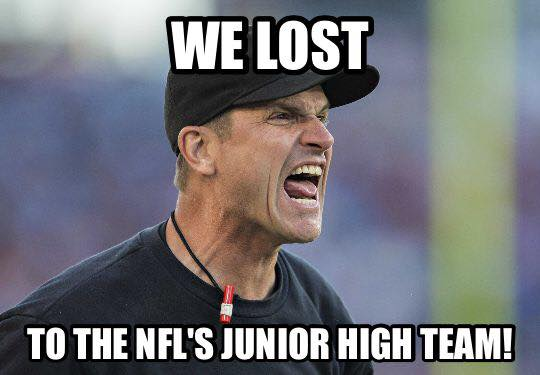 Harbaugh angry