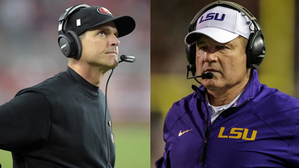 Jim Harbaugh, Les Miles