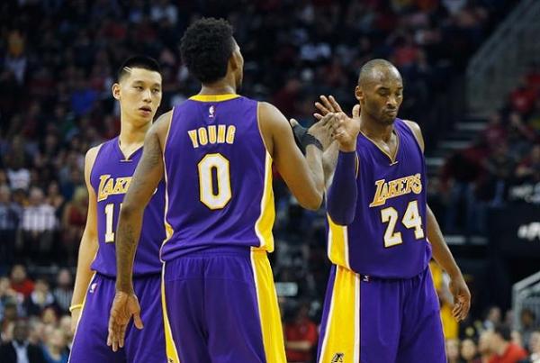 Kobe Bryant, Jeremy Lin, Nick Young