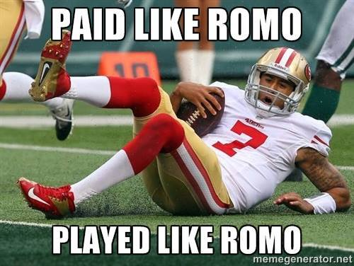Laughing at Romo