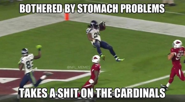 Lynch celebration e1419257659621 20 Best Memes of Ryan Lindley & the Arizona Cardinals Crushed by the Seattle Seahawks