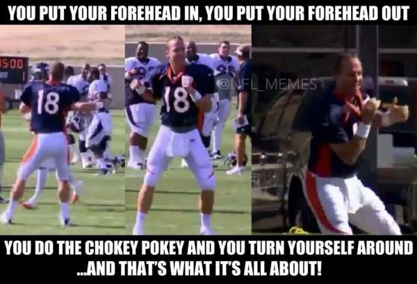 Manning forehead joke