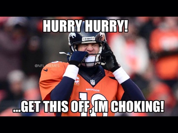 Manning is choking