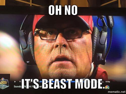 Oh no Its beast mode 20 Best Memes of Ryan Lindley & the Arizona Cardinals Crushed by the Seattle Seahawks