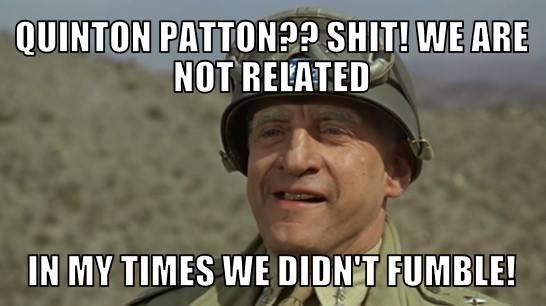 Patton didn't fumble