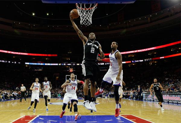 Spurs beat 76ers