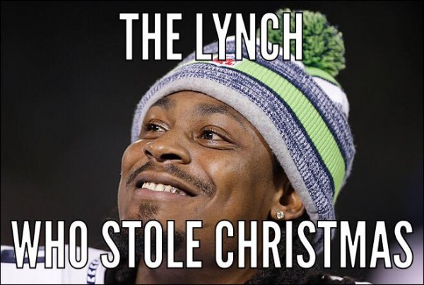 The Lynch who stole Xmas e1419257743928 20 Best Memes of Ryan Lindley & the Arizona Cardinals Crushed by the Seattle Seahawks
