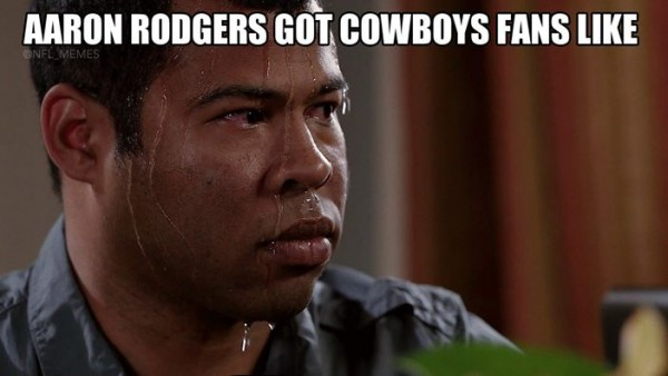 Aaron Rodgers got them like