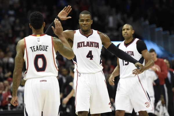 Jeff Teague, Al Horford, Paul Millsap