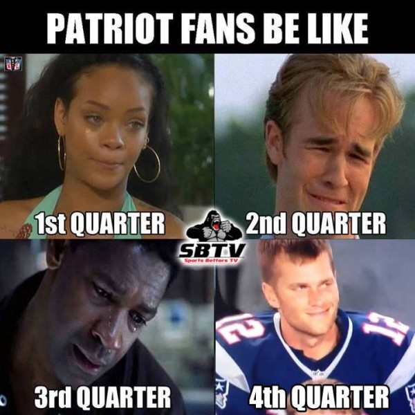 Patriots fans be like