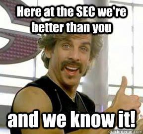 SEC arrogance