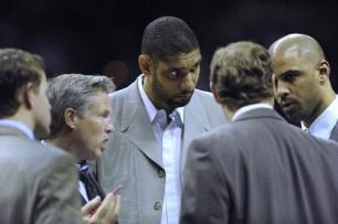 Tim Duncan without a tie