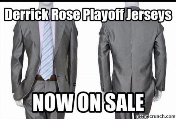 Rose playoff jersey