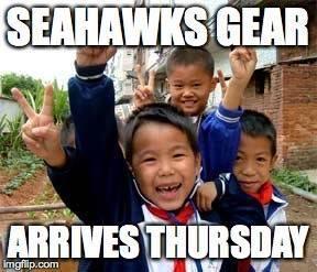 Seahawks gear coming