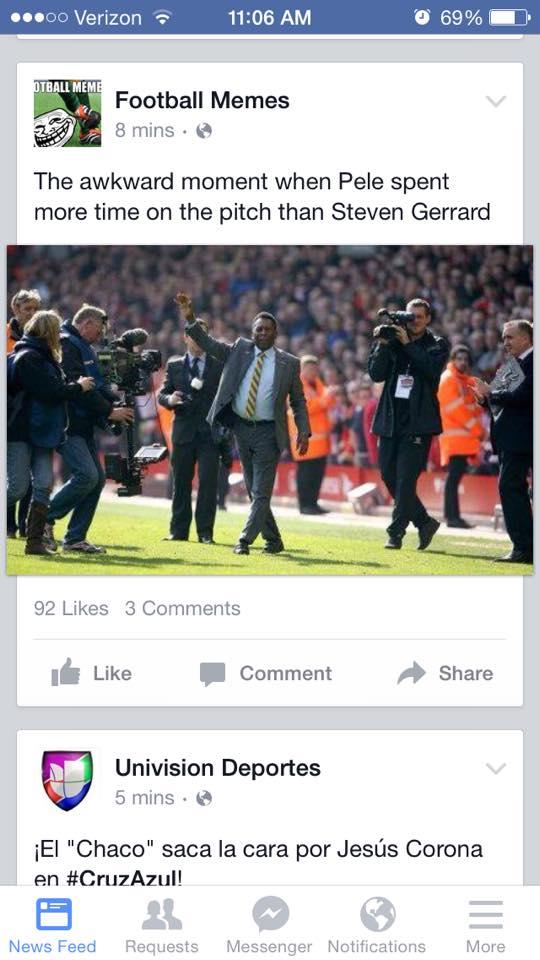 Pele and Gerrard