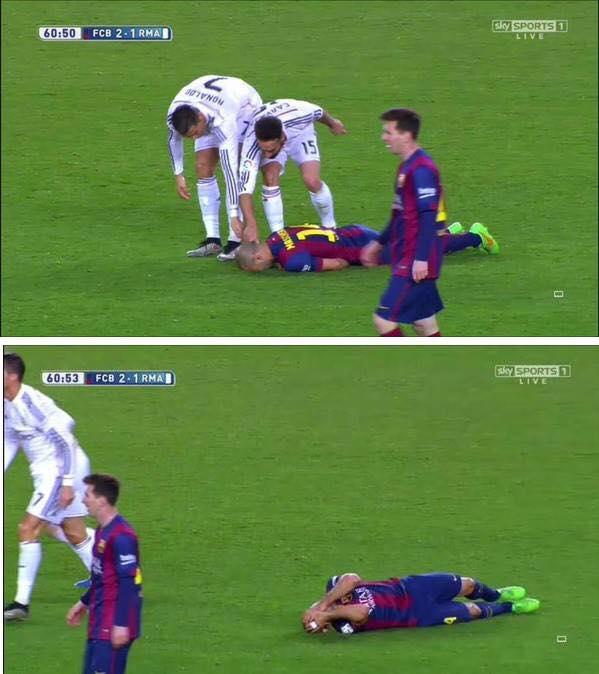 Ronaldo Dive Meme