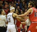 Bucks & Bulls fighting