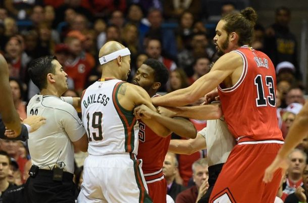 Bucks & Bulls fighting