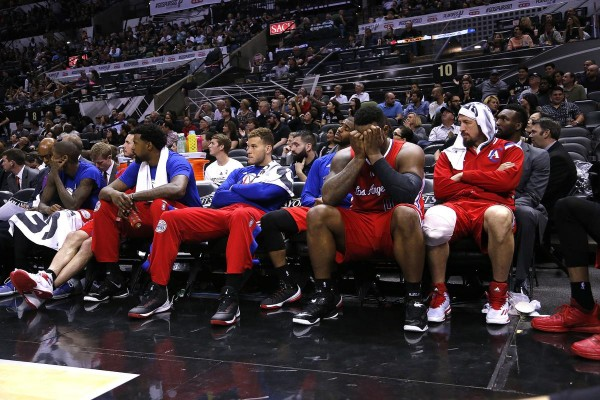 Los Angeles Clippers bench