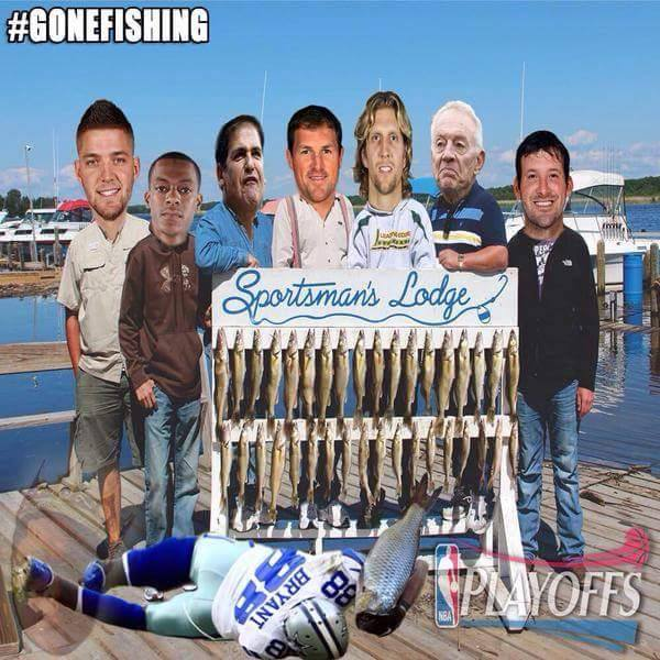 Dallas gone fishing