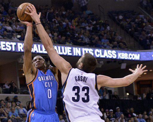 Gasol blocking Westbrook