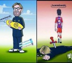 Lewandowski & Klopp cartoon