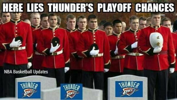 RIP Thunder playoff chances