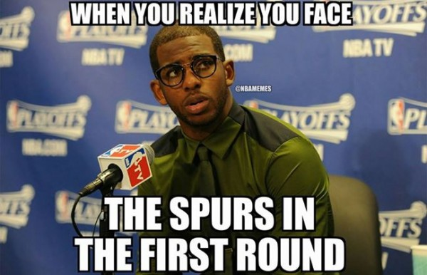 Spurs in the first round