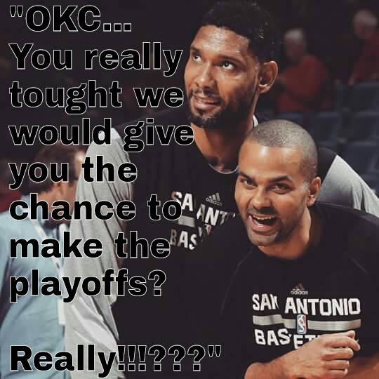 Spurs laughing