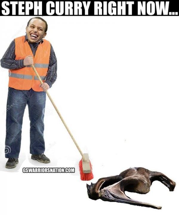 Stephen Curry Sweeping meme